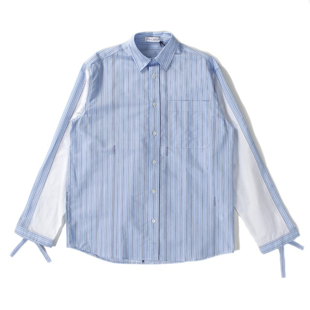 JW ANDERSON  Stripe Shirt Blue