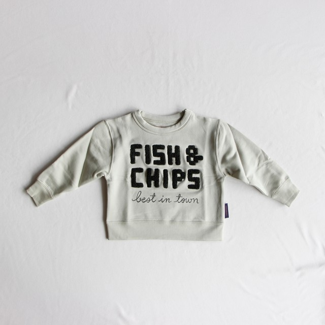《tinycottons 2018AW》fish & chips graphic sweatshirt / pistacho × dark green