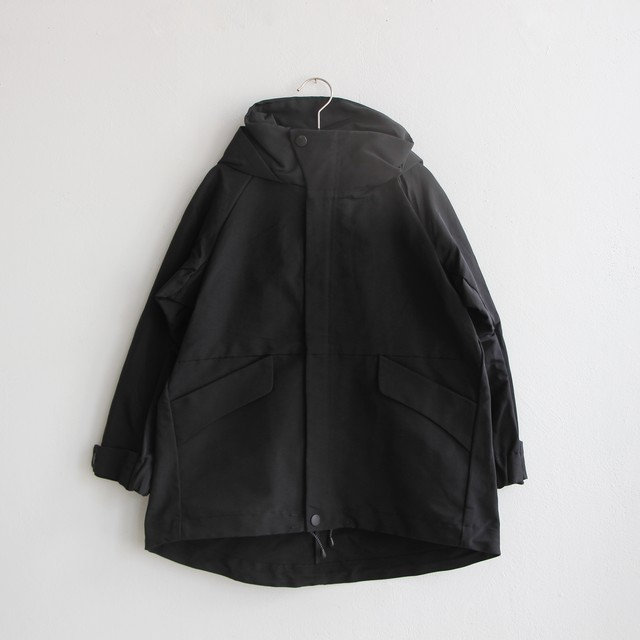 《MOUNTEN. 2021AW》60/40 grosgrain coat /  black