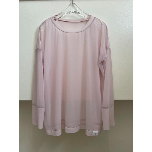 【hippiness】cupro wide Tshirt (brown)/【ヒッピネス】キュプラ ワイド Tシャツ(ブラウン)
