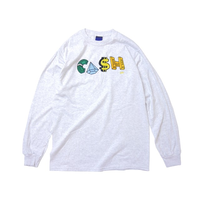 INTERBREED × Clefs Payday L/S T-Shirts ASH