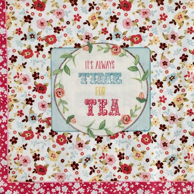廃番【Easy Life】バラ売り2枚 ランチサイズ ペーパーナプキン TEA ピンク
