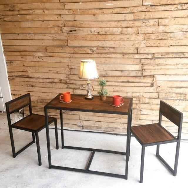 オールドウッド テーブル&2チェアセット