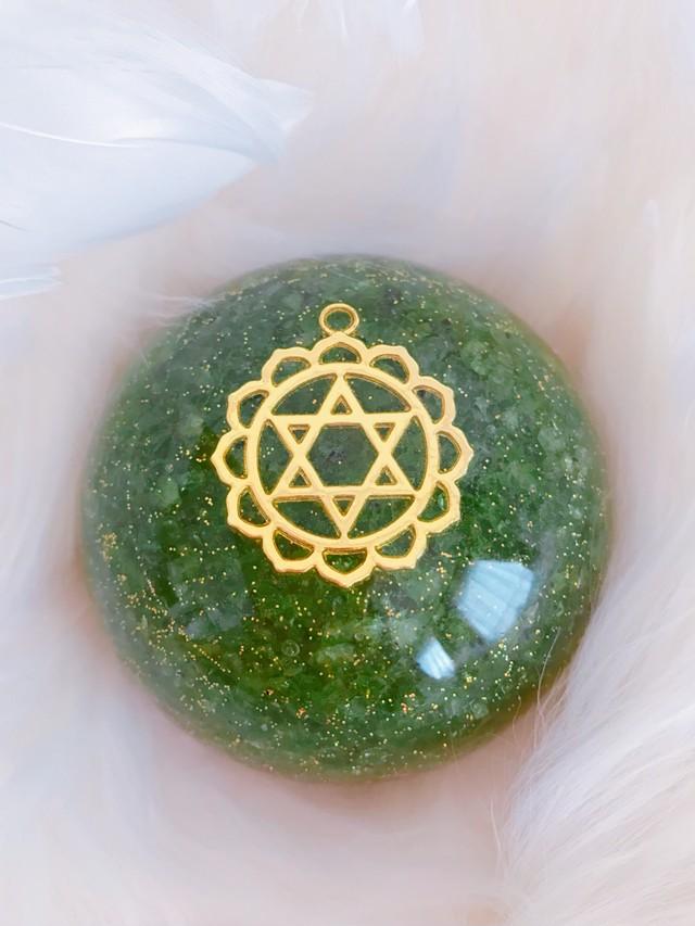 【ペリドット】第4チャクラ対応オルゴナイト