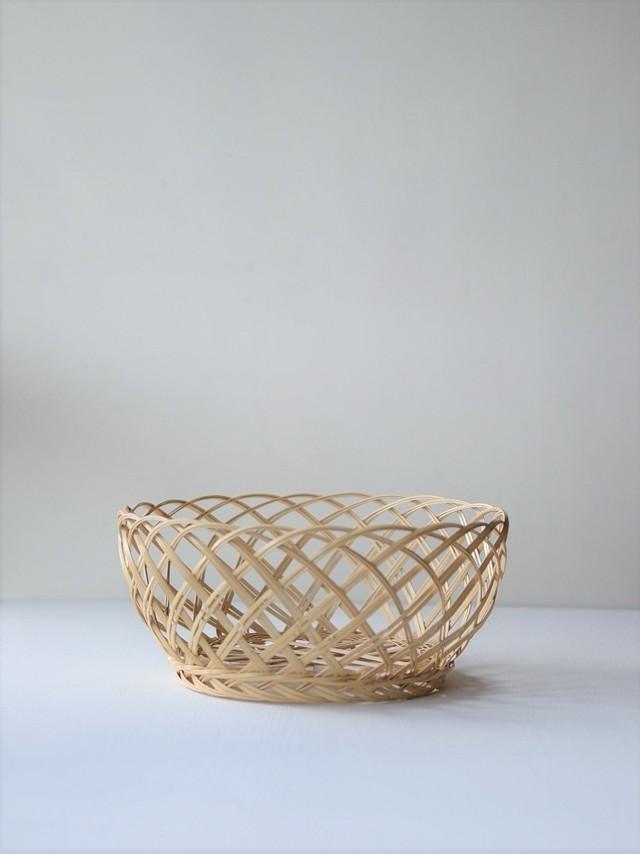 吉田佳道 ささなみかご中 yoshimichi yoshida-bamboo basket medium