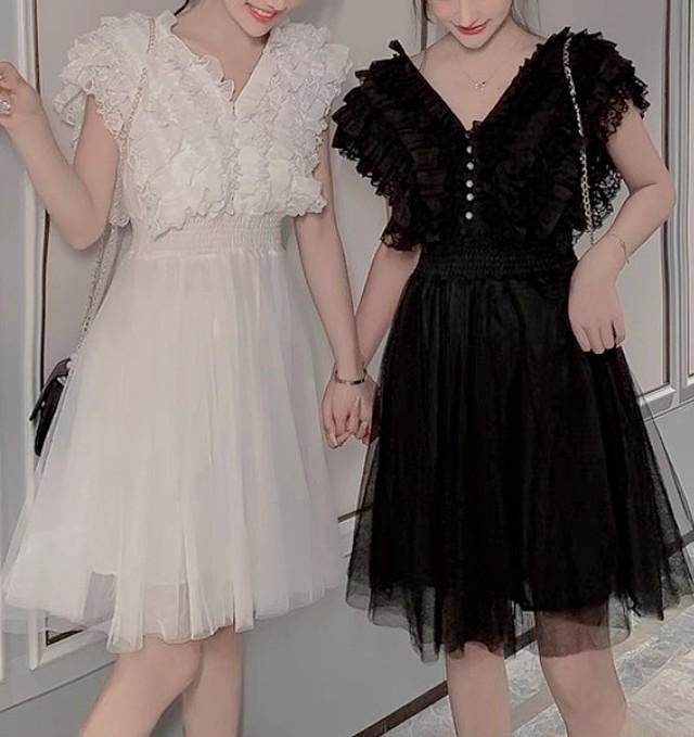poodle tulle dress 2color