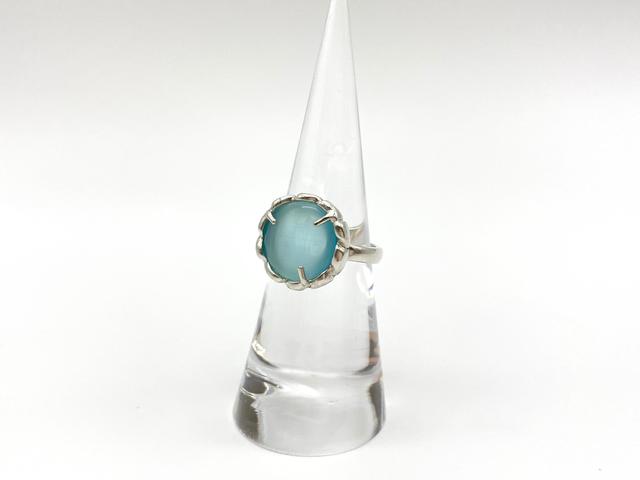 Sorcier ring limited ー silver925 x catseye ー