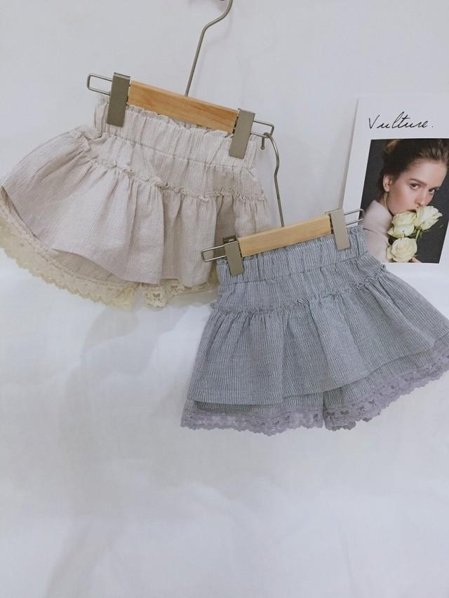 15%off【在庫限り】トップフリルパンツスカート