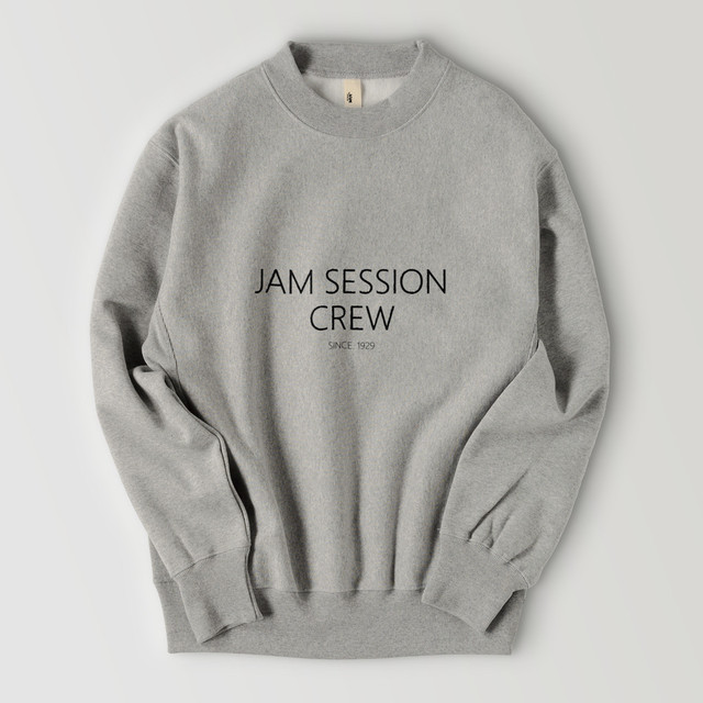 JAM SESSION CREW SWEAT (GREY)