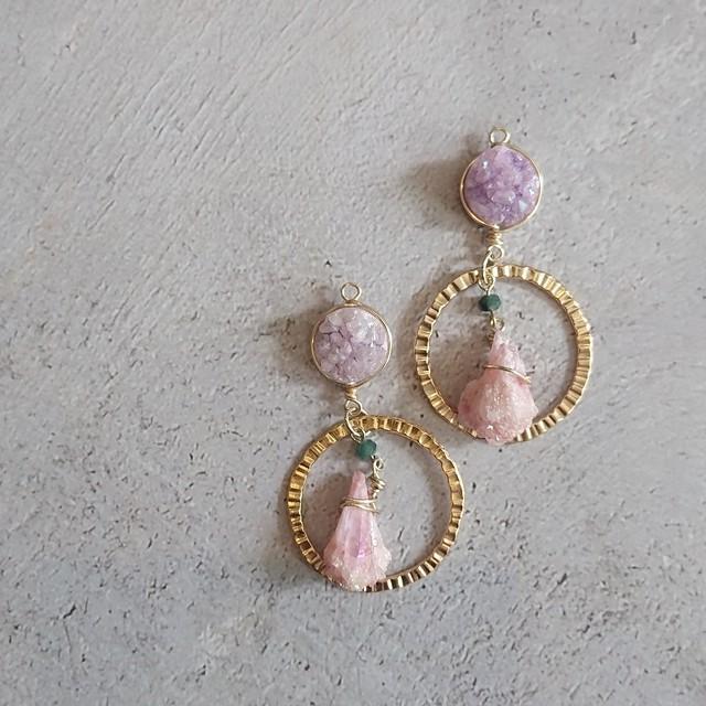Druzy × Crystal Ear Jewelry
