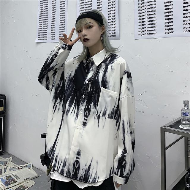 【トップス】超人気ストリート系長袖POLOネックシングルブレストシャツ22688682
