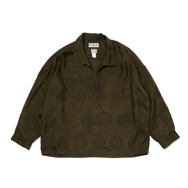 DELUXE × EVISEN CAMELLIA SHIRTS OLIVE