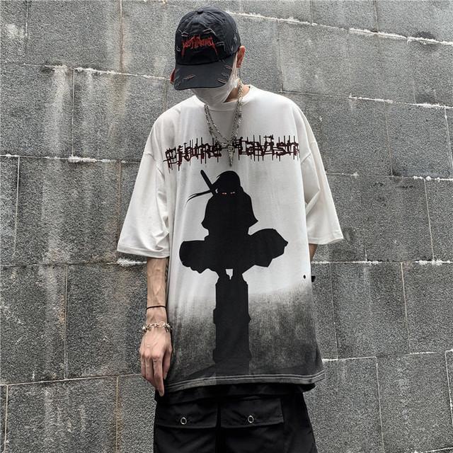 【トップス】忍者図柄半袖カジュアルシンプルTシャツ45279303