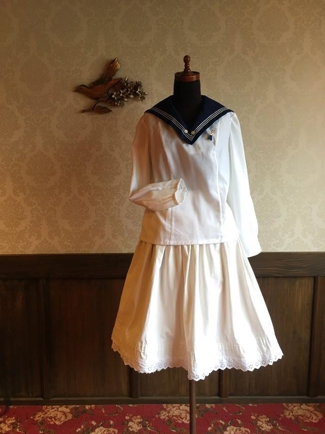 40's~50's  リネン ラップスカート