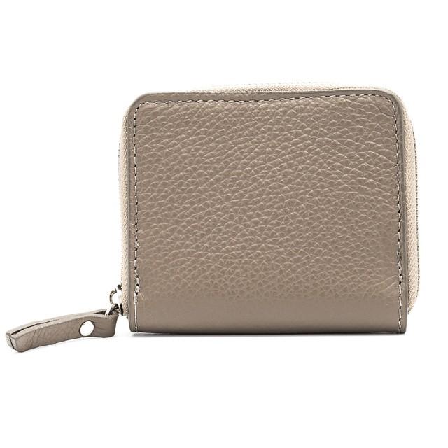 財布 イタリア製 ミニ ベージュ