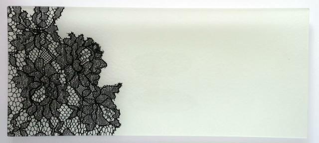 ガラストレー #82218SB アイボリー(長方形皿ハーフレースタイプ)