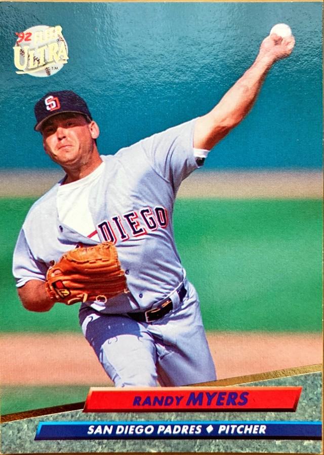 MLBカード 92FLEER Randy Myers #579 PADRES