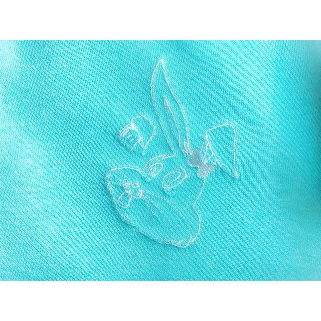 Rubbit Trainer Mint Blue 刺繍