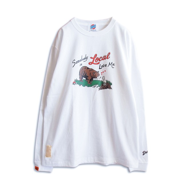 """【DARGO】""""SOMEBODY IN LOCAL LOVE ME"""" Long Sleeve T-shirt(WHITE)"""