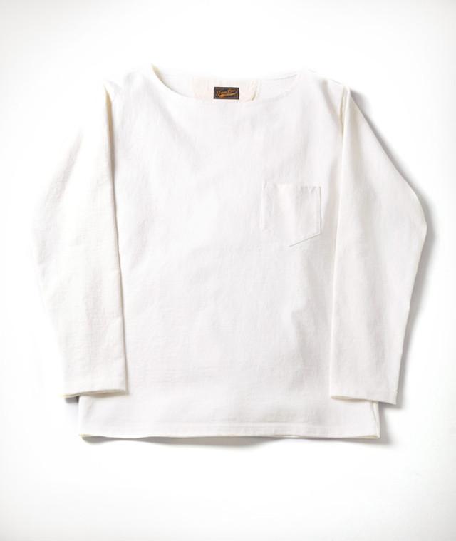JAPAN BLUE JEANS (ジャパンブルージーンズ) 16.5ozスウェット バスクTシャツ 18ゲージ スーパーハードインレイ White (ホワイト) J46403J0