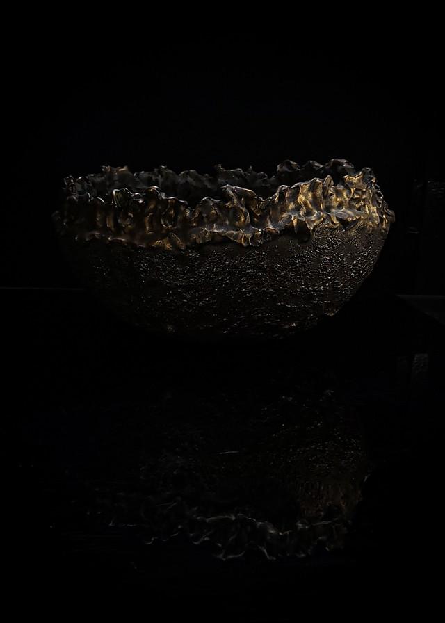 Φ37  火焔型特大植木鉢 -gold apollo-