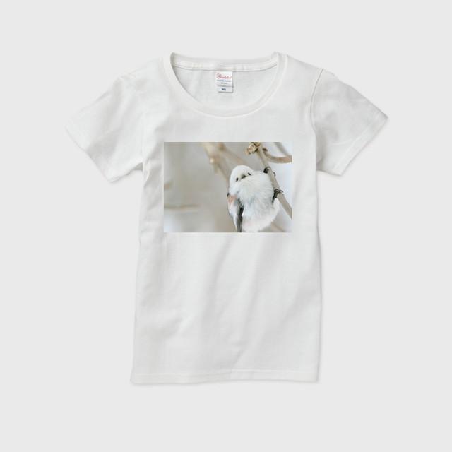 《癒やしの小鳥》シマエナガのオリジナルTシャツ(レディース)【送料無料】