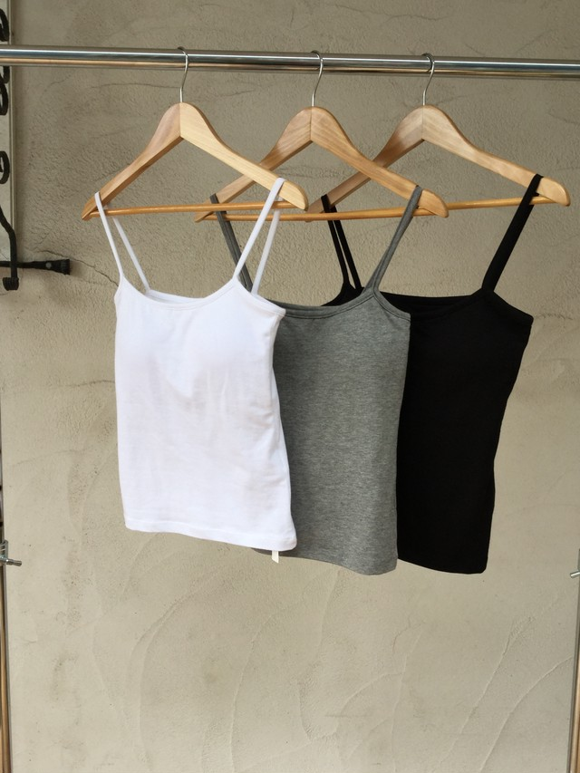 Cap-in Camisole《WHT/GRY/BLK》