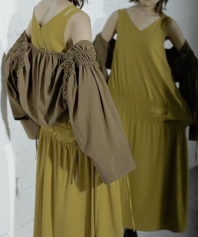 BOLERO SET GATHER DRESS (YELLOW)