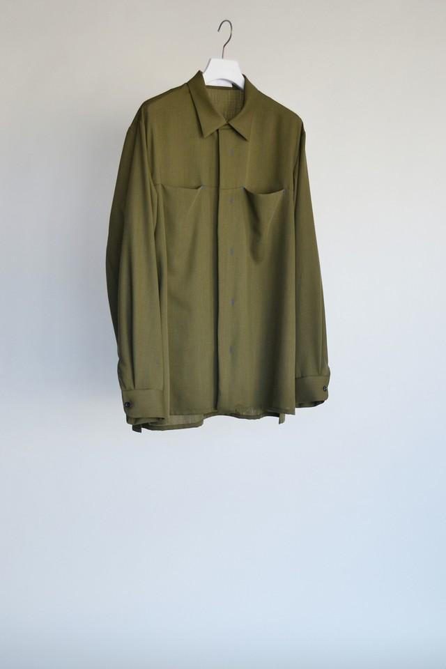 ETHOSENS wool nylon Pocket shirt