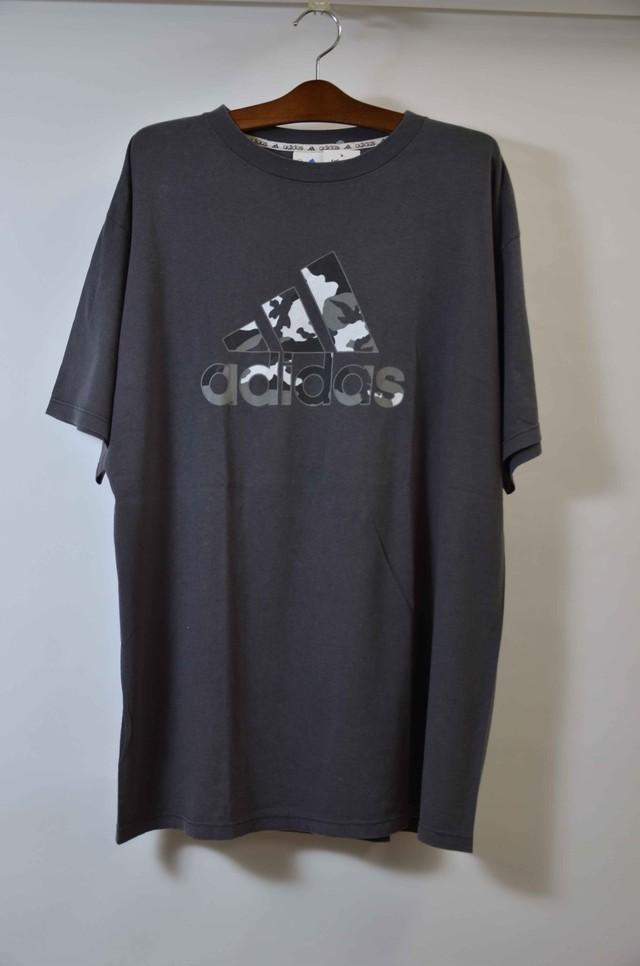 【Lサイズ】 adidas アディダス LOGO TEE Tシャツ CHARCOL 400601190702