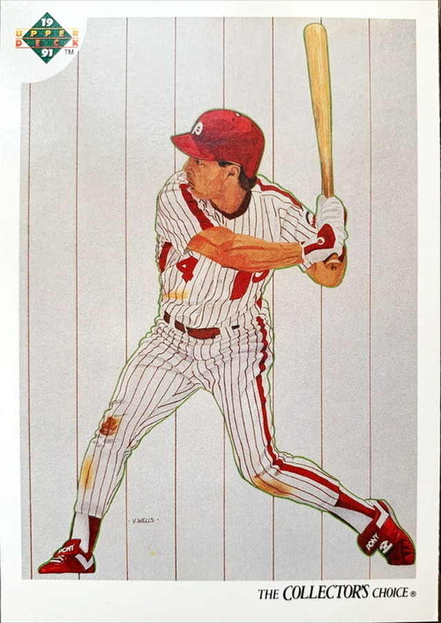 MLBカード 91UPPERDECK Lenny Dykstra #097 PHILLIES LIST
