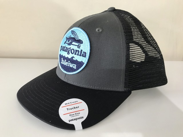 "PATAGONIA HALEIWA ""FLYING FISH"" TRUCKER CAP (NAVY/OCEAN)"