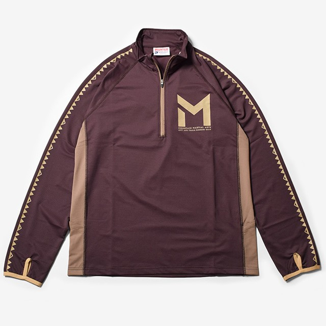 MMASW Active Zip L/Sleeve (Brown)