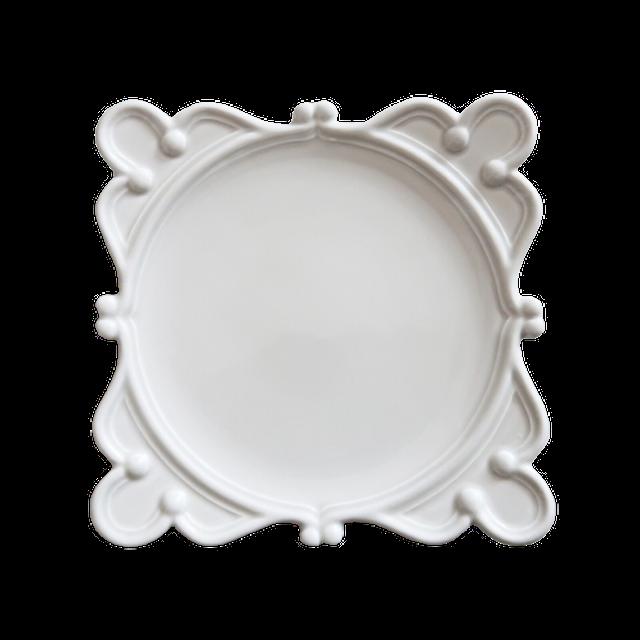 Vienna square plate 25cm / ヴィエナ スカラッププレート25cm