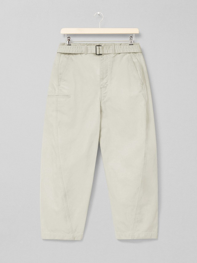 LEMAIRE TWISTED PANTS 014 DUSTY IVORY M 211 PA137 LD058