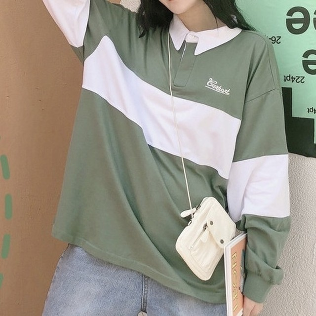 simple letter polo shirt PD2476