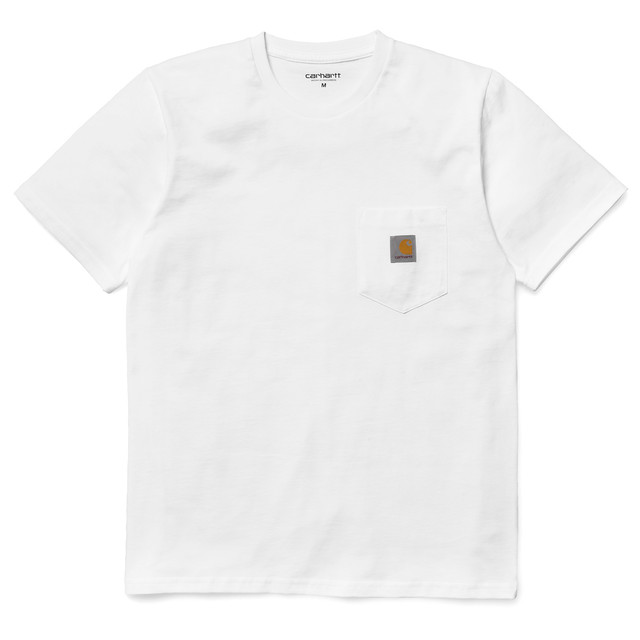 Carhartt (カーハート)S/S POCKET T-SHIRT / White サイズS