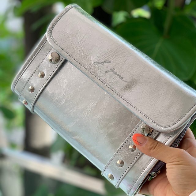 Leather Cart bag (Silver)