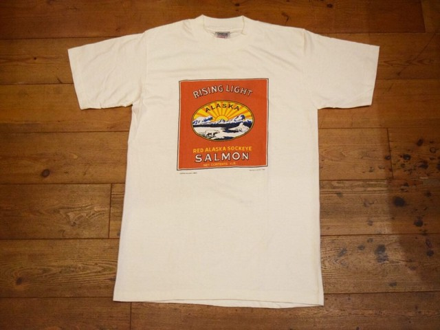 USED 美品 USA製 RISING LIGHT ALASKA Tシャツ 80s 白  M ビンテージ