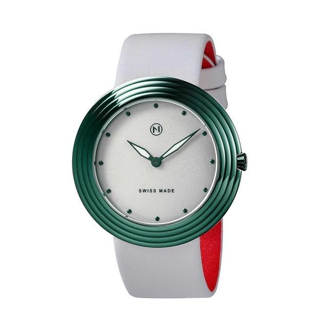 B012-01 Nove ストリームライナー スイス製 腕時計Women   White Green