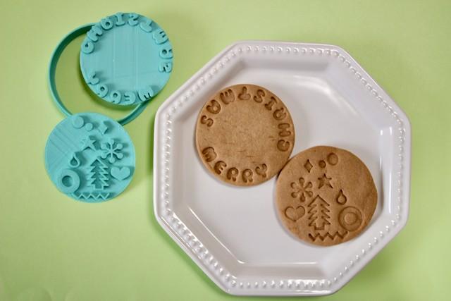 【ふちクッキー】サンタクロース クッキー型