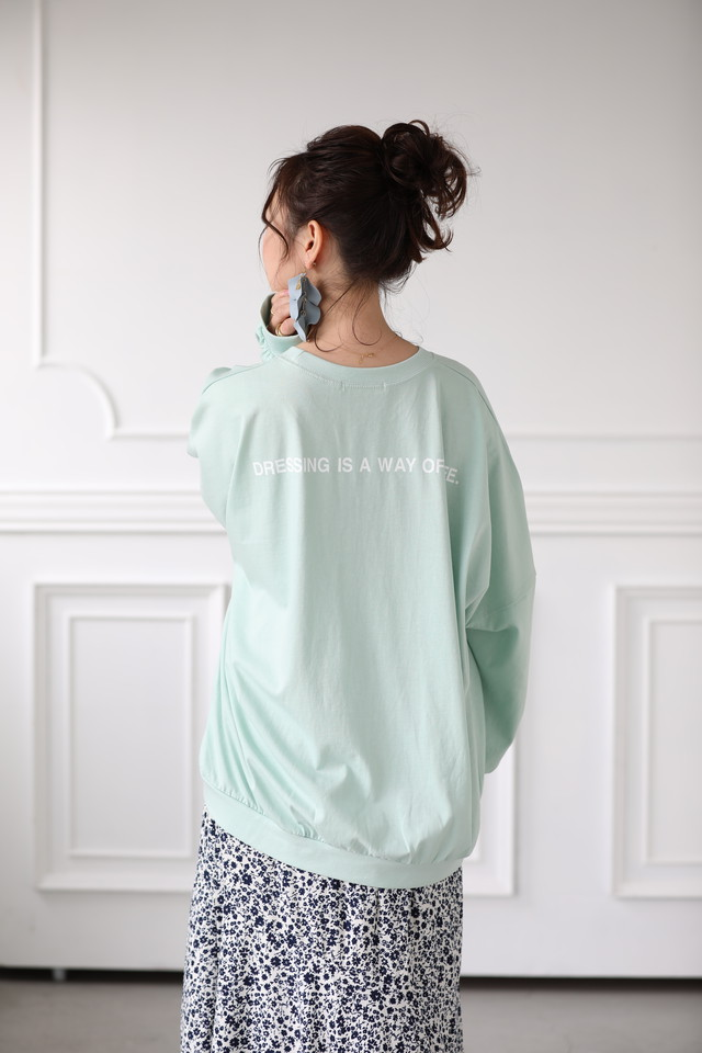 (Ray 掲載) back print mite long tee