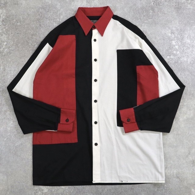 asymmetry panel design shirt