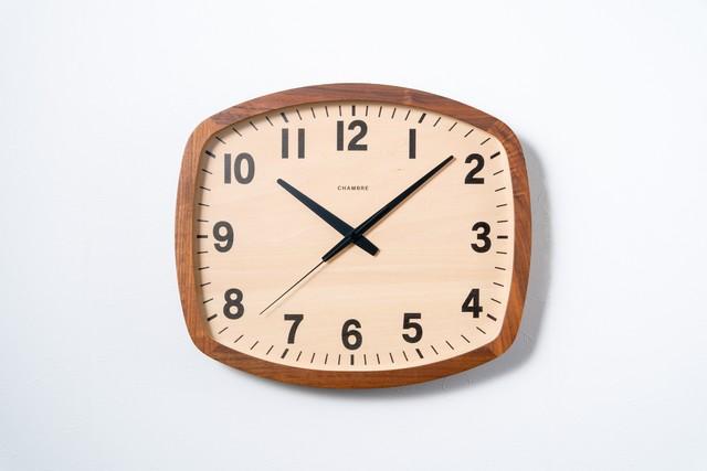 電波時計 R-SQUARE CLOCK 【WALNUT】
