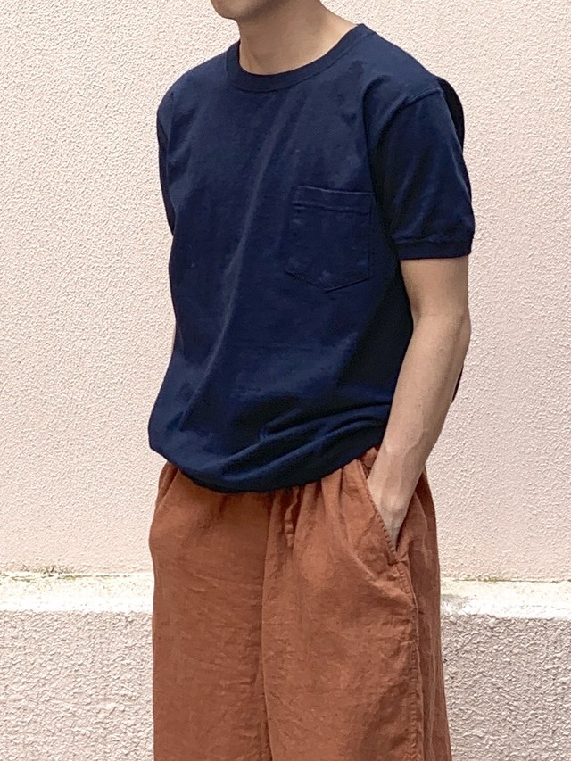 【Goodwear】CREW NECK S/SL POCKET-T CUFF AND HEM RIB