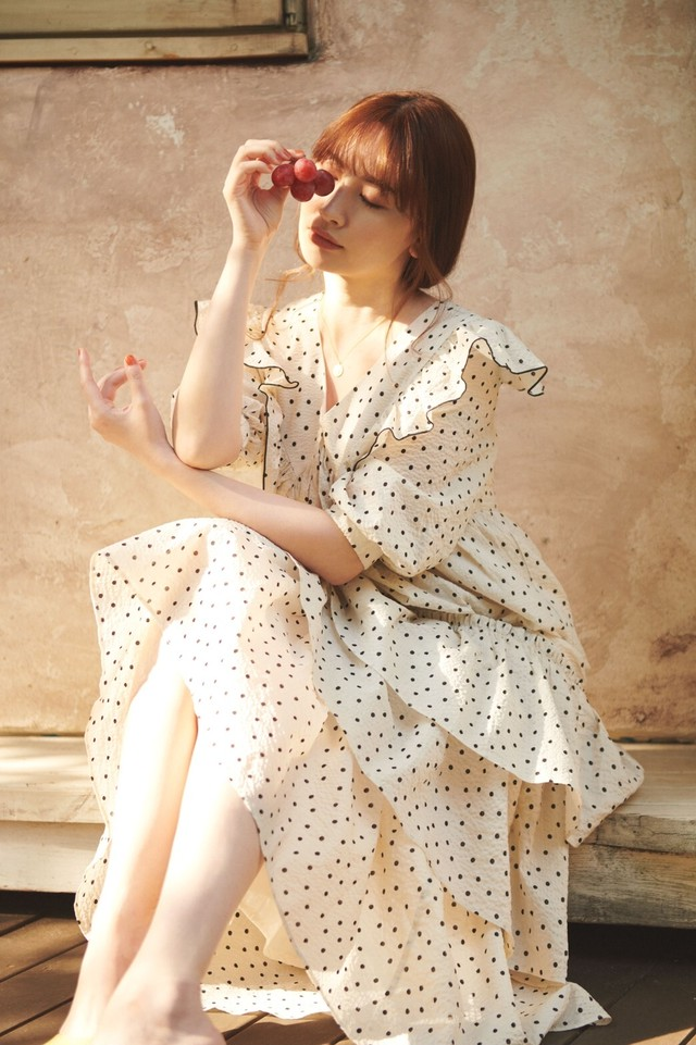 Miracle Wave Belted Dot Dress