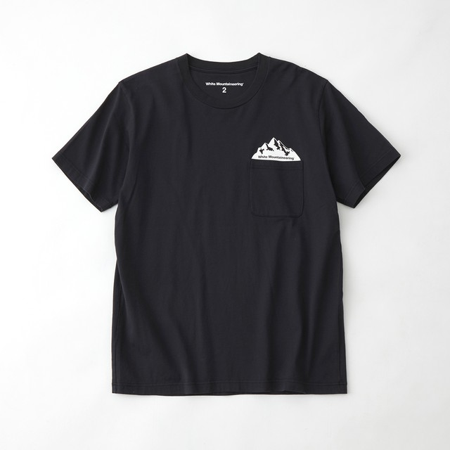 POCKET PRINTED T-SHIRT - NAVY
