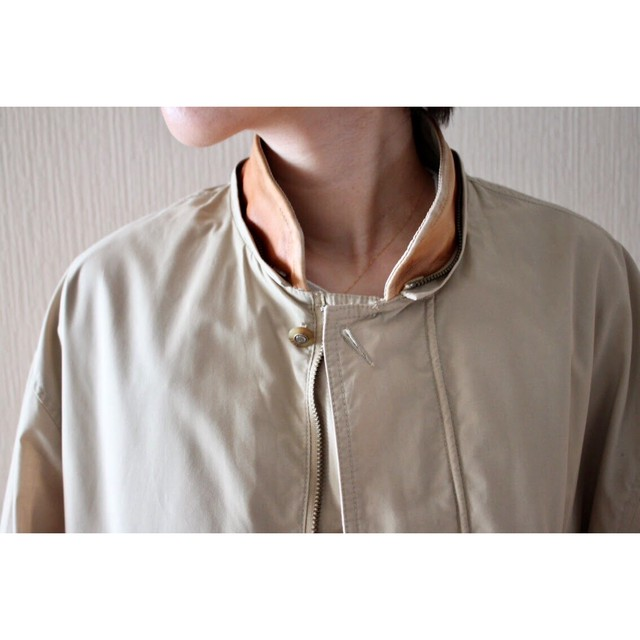 Vintage leather collar blouson