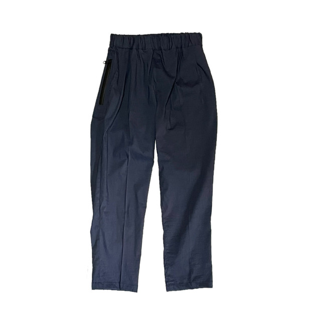 easy tapered pants navy