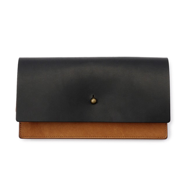 forme Long wallet Liscio black